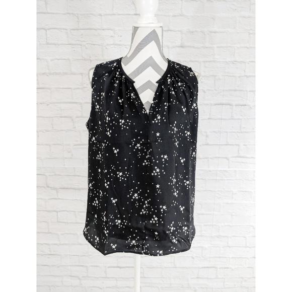 8356fcddf73623 Levi s Black and White Star Print Sleeveless Top
